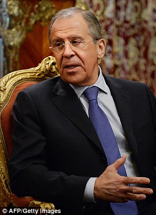 Russian Foreign Minister Sergei Lavrov speaks in Moscow on March 28