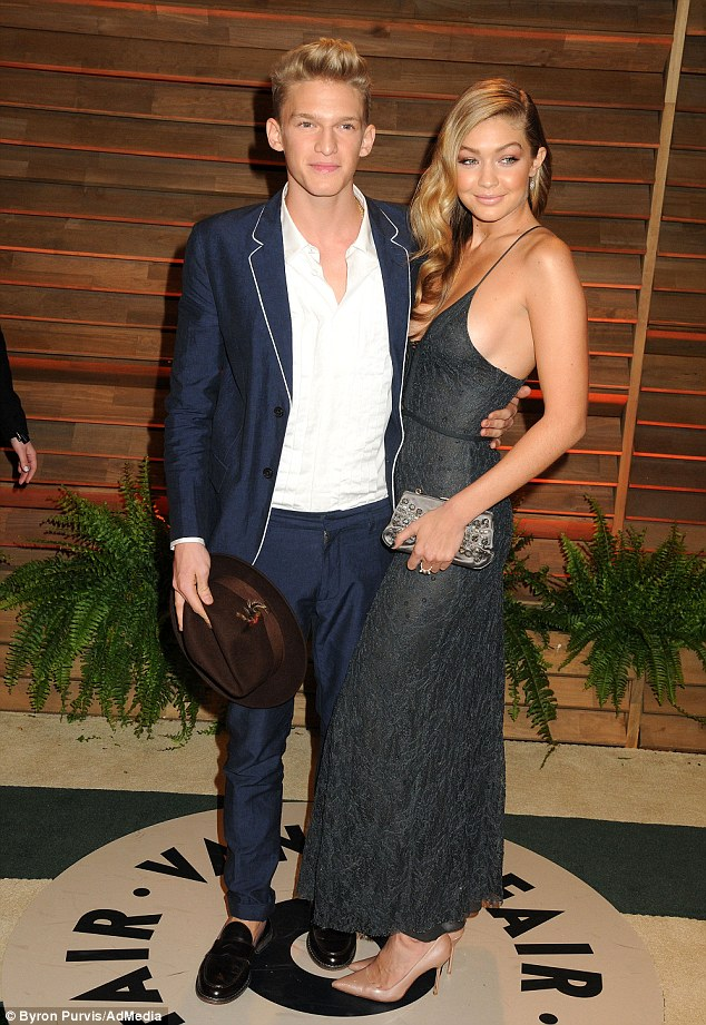 Young love: Cody and Gigi have been dating since June 2013 and attended the 2014 Vanity Fair Oscars party together earlier this month