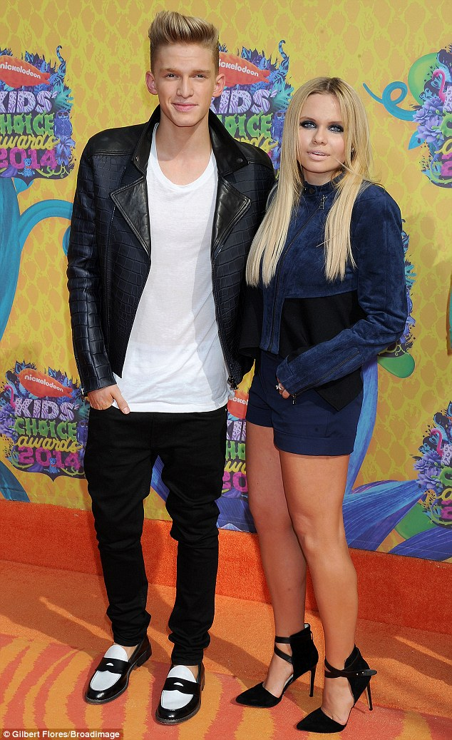Talented family: The Australian pop prince escorted his younger sister Alli, who released her first single last year