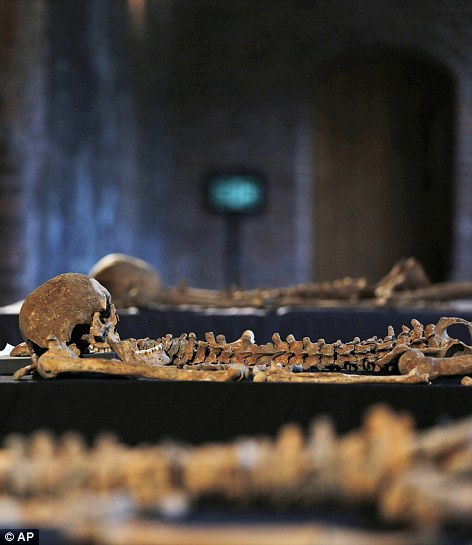 Skeletons found by construction workers under central London's Charterhouse Square