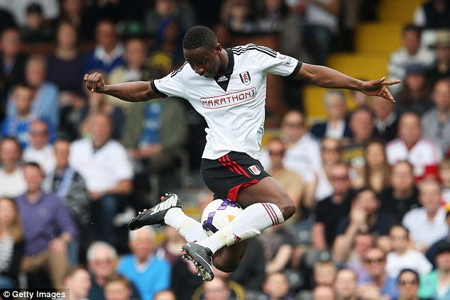 First start: Moussa Dembele looked sharp at the point of Fulham's attack