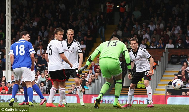 Gaffe: David Stockdale's error for the first goal overshadowed a pretty good performance