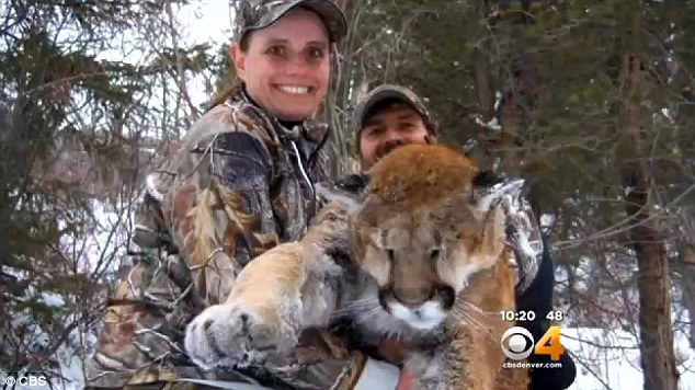 Proud: Charisa uses the hunting trips with her father to bond and says that the kill of the mountain lion was her proudest moment
