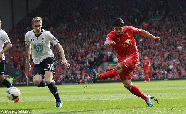 Prolific: Suarez doubled their lead in the first half away racing away on the counter attack