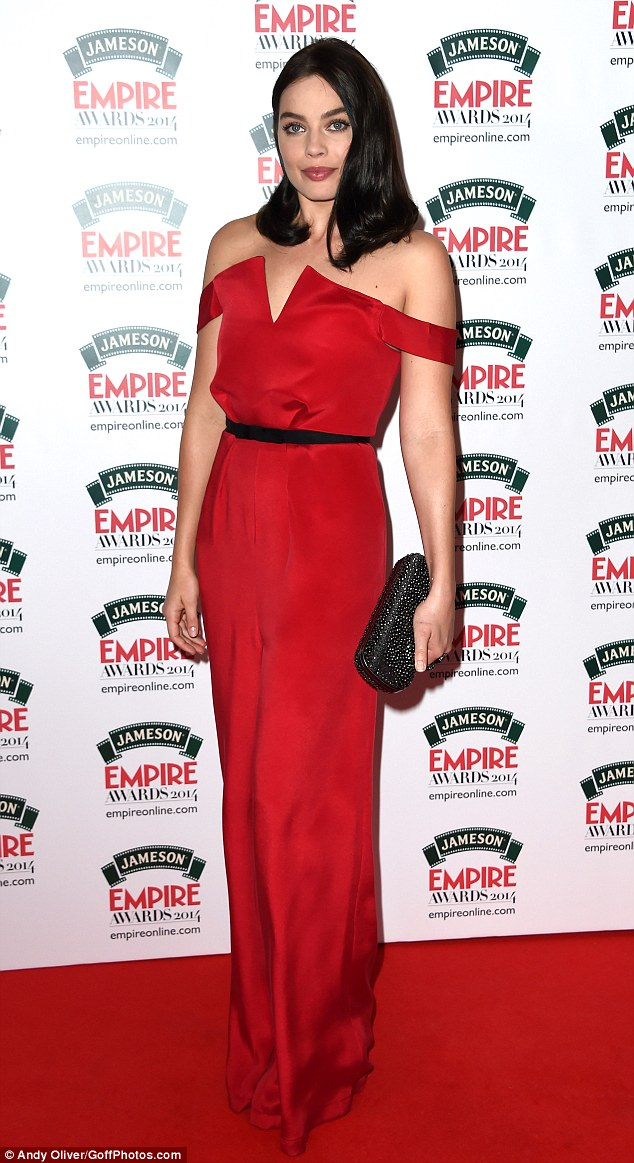 Matching gowns: Sarah was on hand to present Best Newcomer, which was awarded to The Wolf Of Wall Street starlet Margot Robbie, who also wore a dazzling red gown