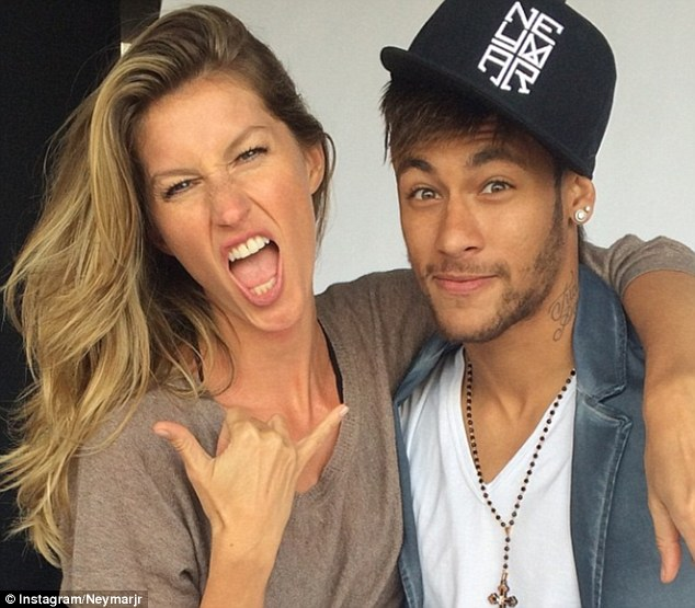 Cover stars: Neymar and Gisele were snapped during a photoshoot for the Brazilian edition of Vogue magazine