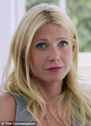 Consciously being counseled online? Gwyneth Paltrow (left) caused a stir