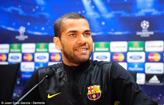 Samba star: Alves was speaking ahead of Barcelona's Champions League clash with Atletico on Tuesday