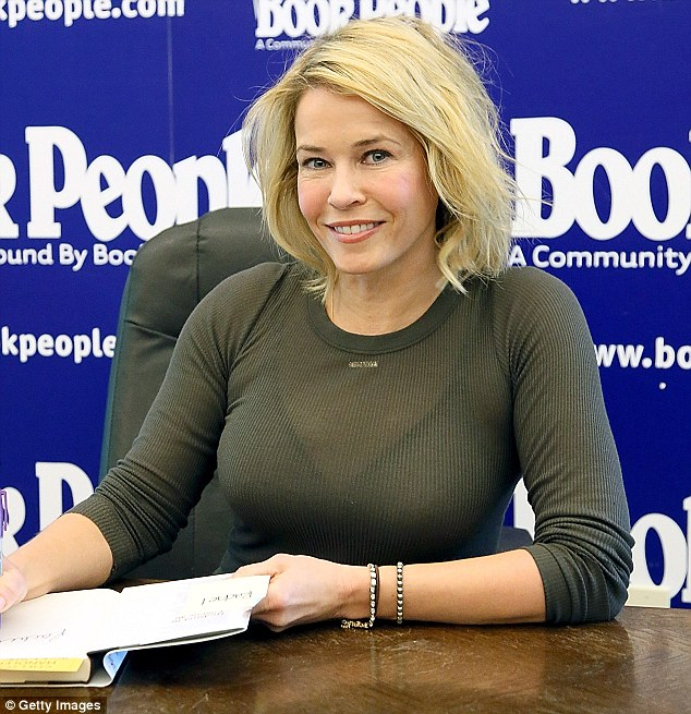 Busy woman: Signing copies of her new book Uganda Be Kidding Me in Austin, Texas on Sunday