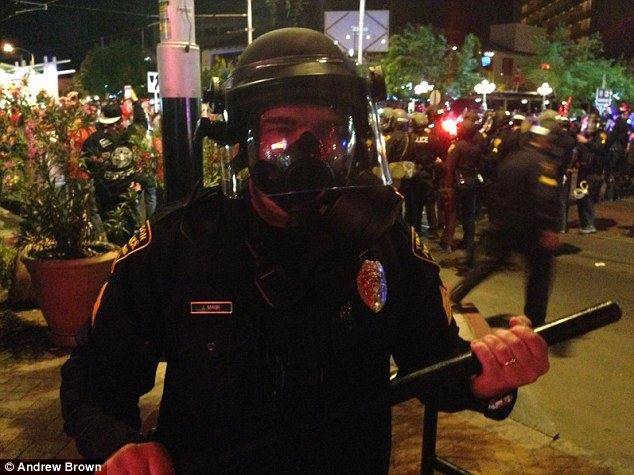 Police action: The rioters threw beer bottles and firecrackers at the responding officers