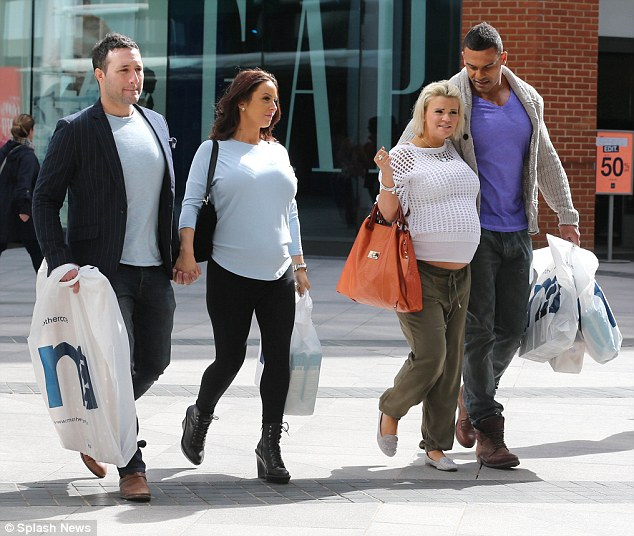 Back home we go: The group made their way back to their cars with their baby goods firmly in their grips