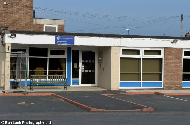 Lifeline: The retired nurse has been visiting the Carentan House day centre (pictured) for six years, with no problems. But North Yorkshire County Council has now said her aluminuim wheelchair is not strong enough to withstand any possible crash, while travelling to and from the centre