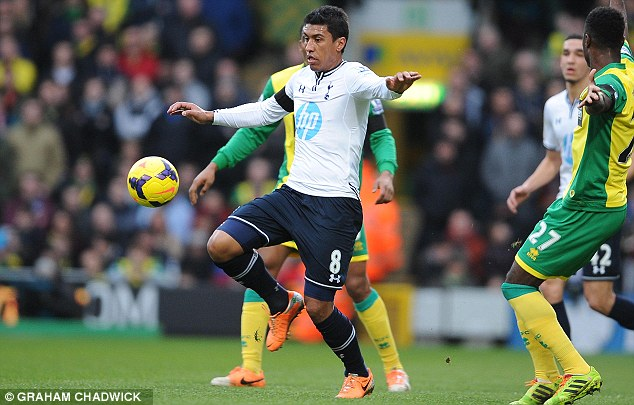 Language barrier: Paulinho is also having difficulty learning English