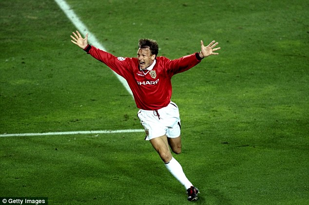 Bold: Ferguson brought on Teddy Sheringham after 68 minutes, who went on to equalise in Barcelona