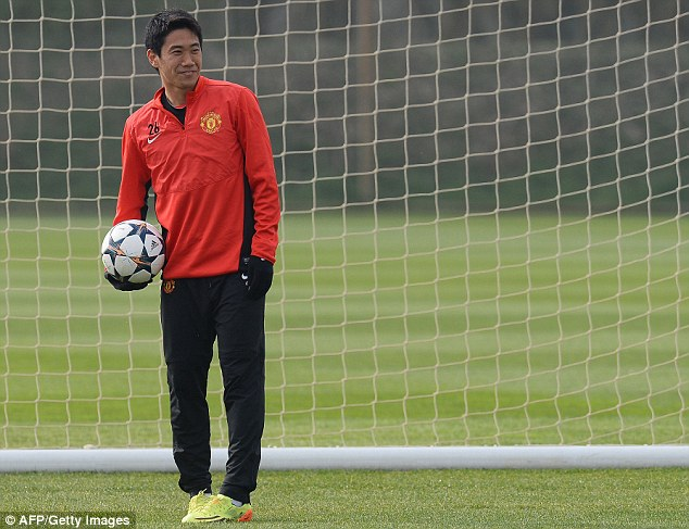 Selection headache? Moyes could opt to go with Shinji Kagawa in midfield against the German champions