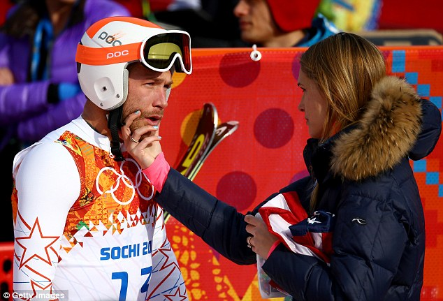 Husband and wife: Miller married Beck (pictured above at Sochi in February) in October 2012 and the two lost a child in a miscarriage the following January