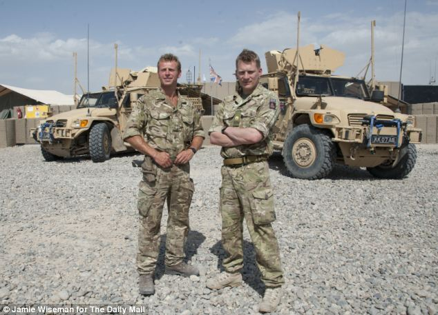 Captain Ed Challis (left) and Major Guy Simpson, commanding officers of the last British frontline base outside Camp Bastion