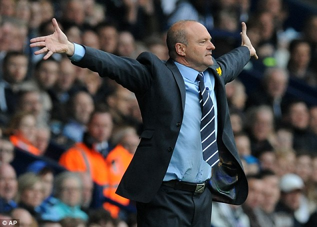 In trouble: Pepe Mel's side remain in serious relegation danger