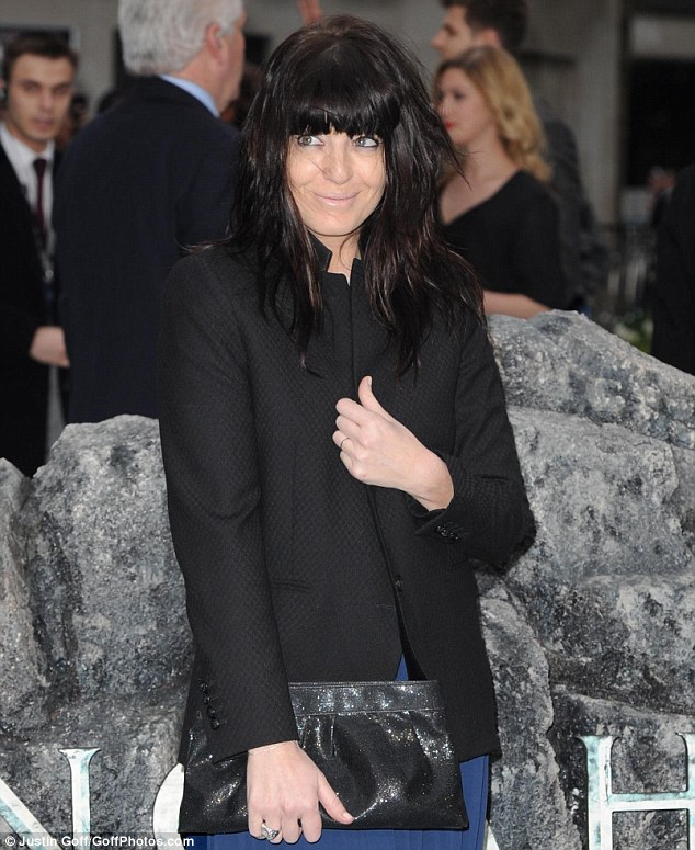Make-up malfunction: Although Claudia Winkleman managed to avoid her usual dramatically smudged eyeliner at the UK premiere of Noah on Monday night, it wouldn't be a red carpet event without a slip-up of some sort in the cosmetics department