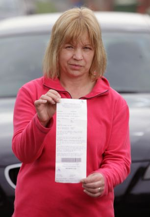 Mrs Hopkins has paid the £70 fine to avoid the long appeals process, but says she would have moved the vehicle if the warden had knocked on her front door