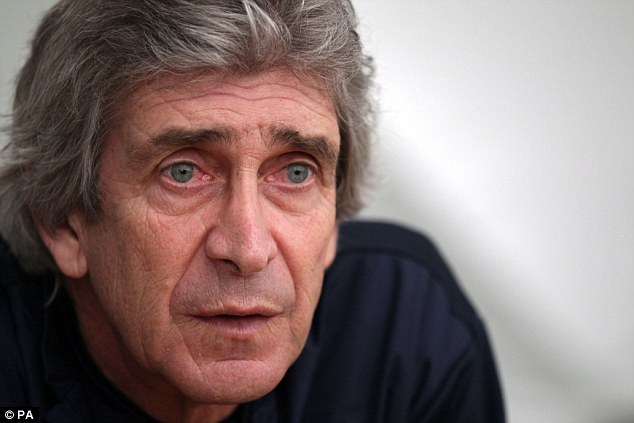 Get him fit: Manager Manuel Pellegrini will hope to have his top scorer back for the critical run-in this season