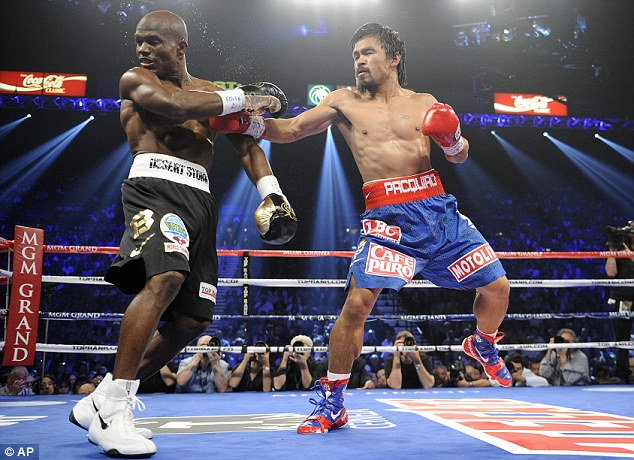 Doubt: Pacquiao remains convinced he won the first fight with Bradley two years ago
