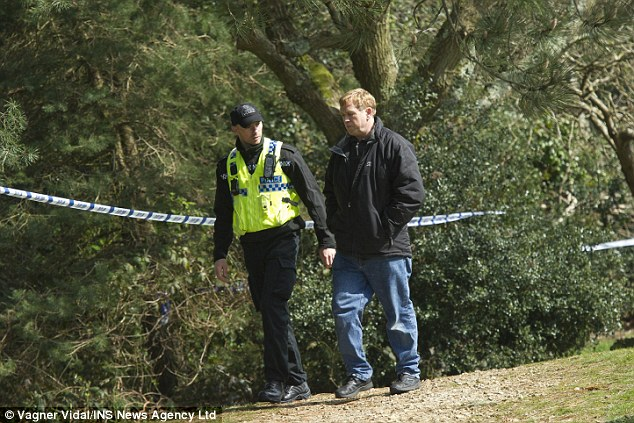 The walker took police to where he found them but when they looked up they discovered more human remains