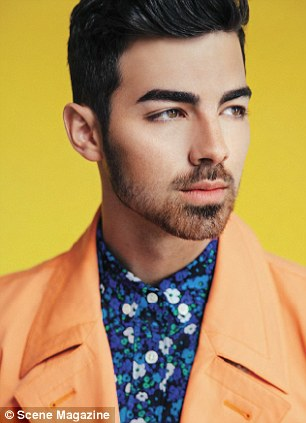 Fun with patterns: The former Disney Channel star has had a lot more time on his hands since his band The Jonas Brothers split in October after eight years