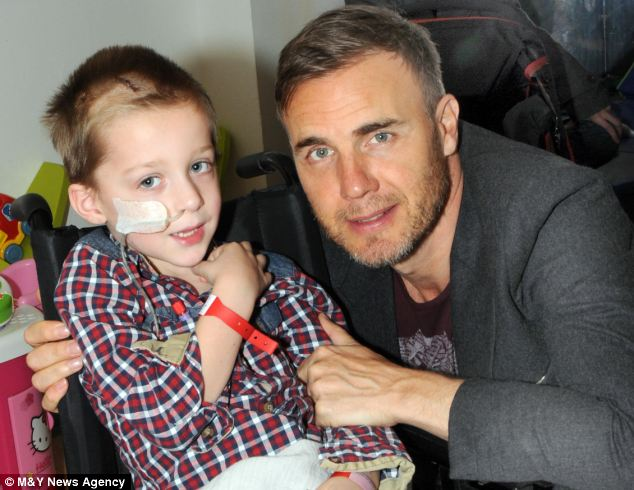 Tragedy: Jack Robinson died of a brain tumour after completing his bucket list which included meeting Gary Barlow - and his final wish was for a Star Wars funeral