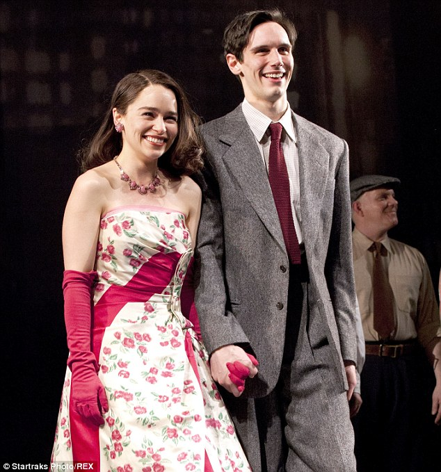 Treading the boards together: The couple gave a stirring performance in the Truman Capote play as Fred and Holly Golightly, with their on-stage chemistry said to have spilled into their real life