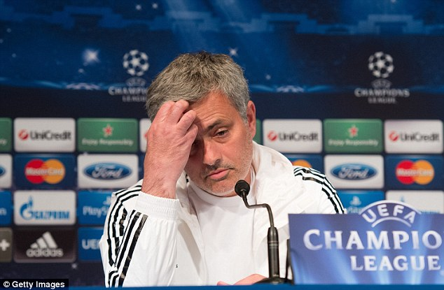 No way: Chelsea manager Jose Mourinho will refuse to speak to Canal+ while in Paris