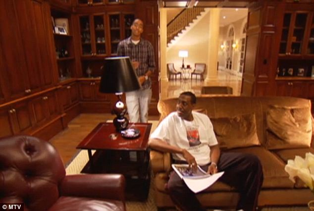 Keeping it real: The home is owned by Rodney P. Hunt (center) and was featured in an episode of MTV Teen Cribs in 2010, in which his son Bradley, an amateur rapper who does by Kid Named Breezy, gave a tour of its many unique amenities