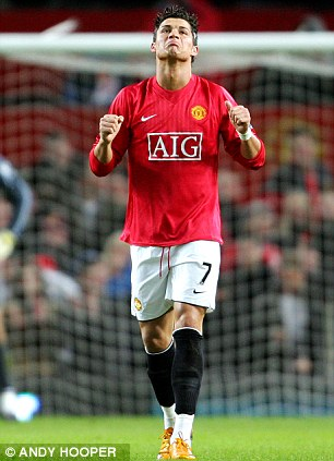 Among the goals: Cristiano Ronaldo was the last player to score 31 goals in a season while playing for Manchester United in 2007/08