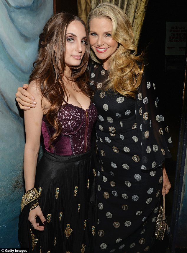 Cheering her on: Alexa Ray Joel performed in concert on Tuesday and Christie Brinkley was there to support her
