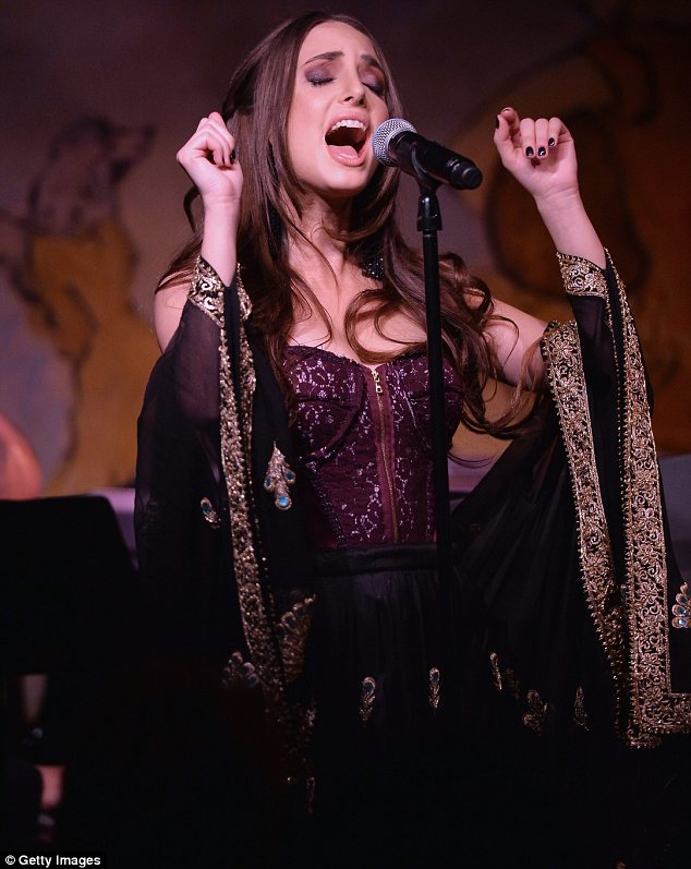 The perfect look: Alexa's outfit was a great choice as she was performing in cabaret and supper club Cafe Carlyle