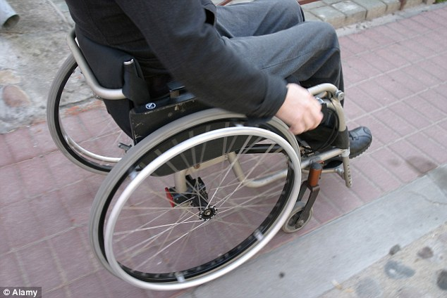 New figures: White people in Britain are twice as likely to say they have a disability or long-term illness than those from ethnic minorities, a survey has found (stock image)