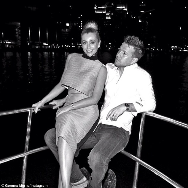 The love boat: Gemma was joined on her lavish night out by her doting husband, Ian Minton