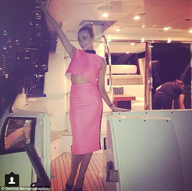 Life of luxury: Evidently having a whale of a time onboard the yacht, Gemma made sure to capture a few memories by posting numerous shots on her Instagram page