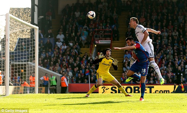 Rare error: Terry's own goal against Crystal Palace was a blot on his otherwise dominant season