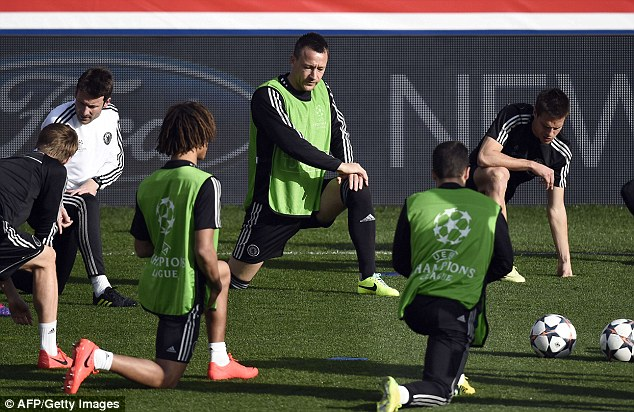 Limbering up: Terry has thrived under Jose Mourinho during the Portuguese's second spell at Chelsea