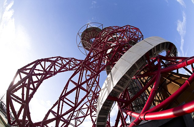 A collapsed rollercoaster? A giant metal tomato? A work of art? The sculpture invites definitions of its shape