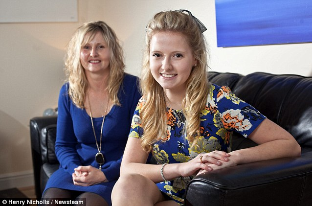 Rosie's mother Callie, pictured with her at home, says she is very proud of her daughter, who wants to pursue a career in modelling