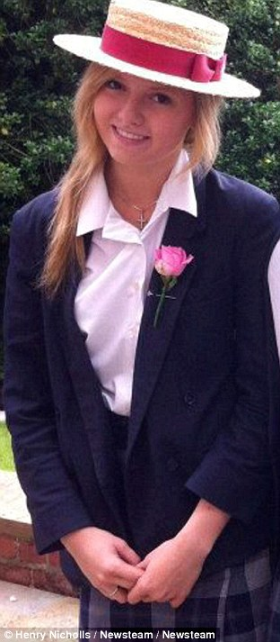 Photograph of Rosie Thompson taken in 2011 at Bromsgrove School