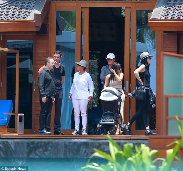 Holiday in paradise: Kim Kardashian and family arrive at their stunning waterfront vacation home in Phuket