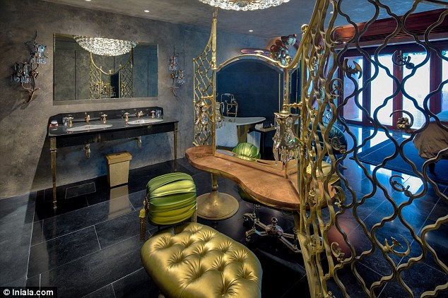 Gaudy: Some of the rooms take the decadence beyond the call of duty