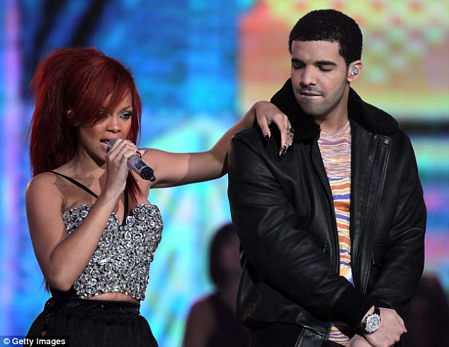 Back together: Rihanna and Drake have resumed their relationship, pictured here in 2011