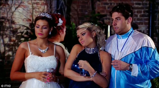 Bye for now: Jess, Billie and Arg looked devastated when Sam revealed she was quitting TOWIE