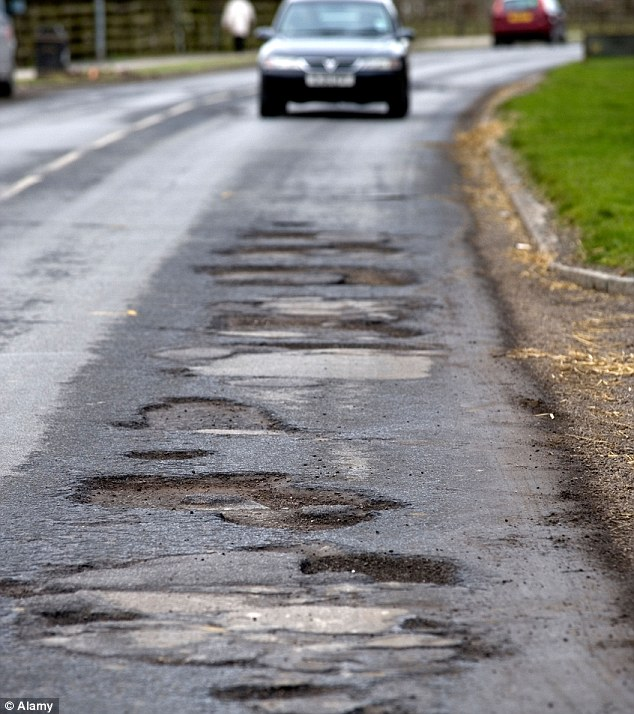 Britain is facing a growing £12billion bill to fix the nation's potholes - made worse by the record rainfall and flooding this winter, a report reveals today