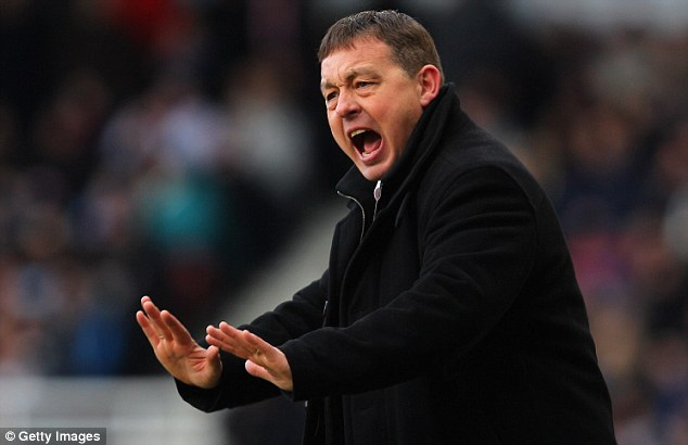 Gone: Billy Davies was sacked after going on a winless run culminating in a 5-0 defeat to local rivals Derby