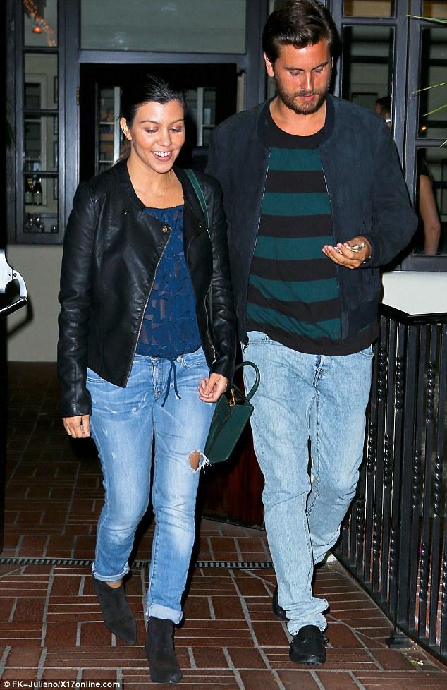 Loving couple: Kourtney Kardashian and Scott Disick are currently enjoying a romantic break in Santa Monica
